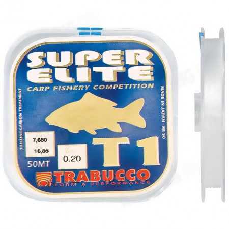 Poze Fir Monofilament Super Elite Carp T1, 50m Trabucco
