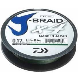 Poze Fir Textil Daiwa J-Braid X4 Dark Green 135m Daiwa