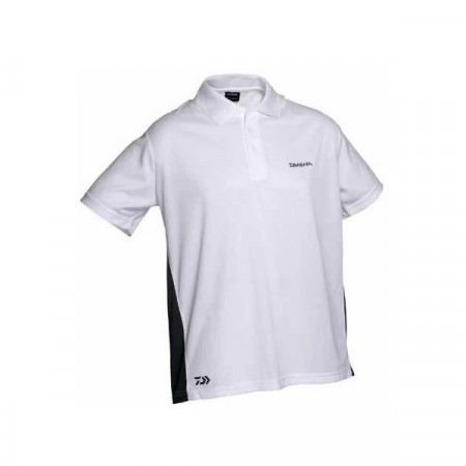 Tricou polo Alb Quick Dry Daiwa