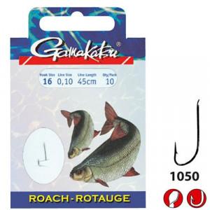 Carlige legate Roach 0,14mm 10buc/Plic (GK.140146.) Gamakatsu 1050N