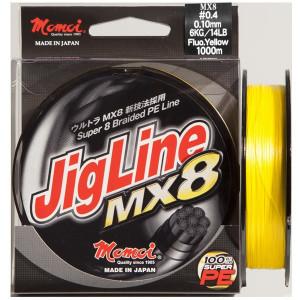 Fir textil Jigline MX8 Yellow Fluo 125m Momoi