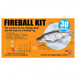 Set montura Fireball Pro 30buc Savage Gear