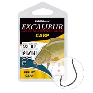 Carlige Excalibur Carp Curved Shank BN