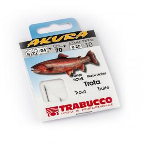 Carlige legate Trabucco Akura pentru pastrav, clean, 10buc