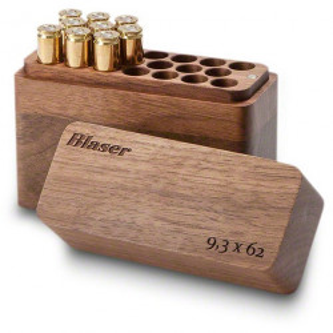 Cutie 20 posturi 9,3X62 lemn de nuc Blaser
