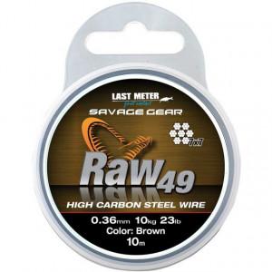 Fir struna Savage Gear RAW 49, maro, 10m