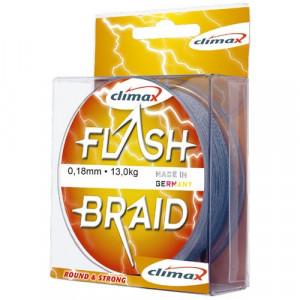 Fir textil Climax Flash Braid, gri, 100m