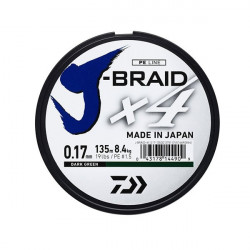 Fir Textil Daiwa J-Braid X4 Dark Green 135m Daiwa