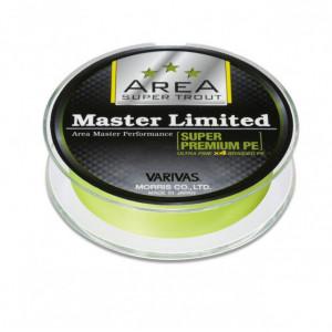 Fir textil Varivas Super Trout Area Master Limited PE, galben neon, 75m