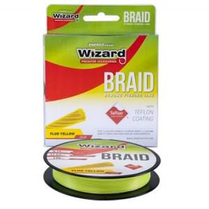Fir textil Wizard Braid galben 135m