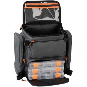 Rucsac pentru accesorii spinning 40X38X23cm +3 cutii Savage Gear