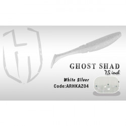 Shad Ghost 7.5cm White/Silver Herakles
