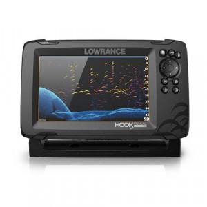 Sonar Lowrance HOOK Reveal 7, traductor 83/200 HDI, CHIRP Multifunctional, Chartploter, GPS