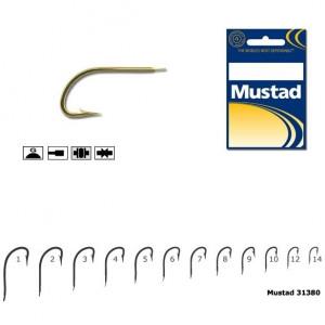 Carlig Mustad M31380, Forjat cu Tija Scurta, Auriu, 10buc
