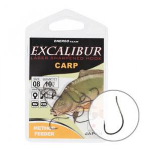 Carlige Excalibur Carp Method Feeder, 10buc