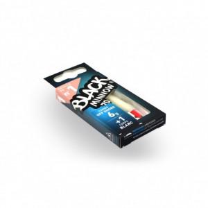 Combo Shad Black Minnow Shore Alb, 7cm, Cap 6g + Shad Rezerva Fiiish