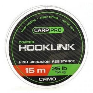 Fir textil cu camasa Carp Pro Coated Hooklink, camuflaj, 15m