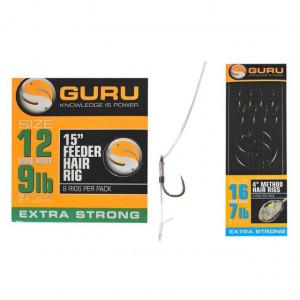 Montura feeder Hair Rig carlig nr. 12 / 0.22mm / 8buc/plic Guru