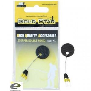 Opritor Dublu GS negru / galben Gold Star
