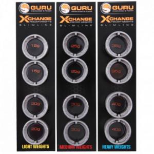 Set plumbi rezerva Guru Slimline X-Change Distance Feeders Light, 4bc