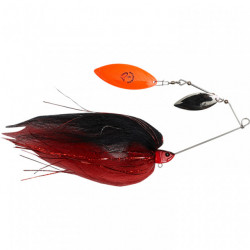 Spinnerbait Savage Gear Da Mega Bush White Silver, 55g, Black Red