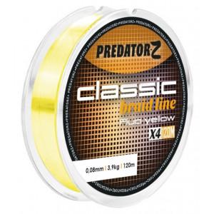 Fir textil Predator-Z Classic Braid galben fluo 120m Carp Zoom