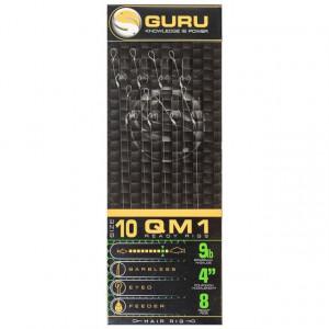 Carlige legate Guru QM1 Standard Hair Rigs, 0.22mm, 8bc