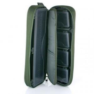 Geanta Carp Pro cu penar riguri si 4 cutii pentru carlige, 36x13x7cm