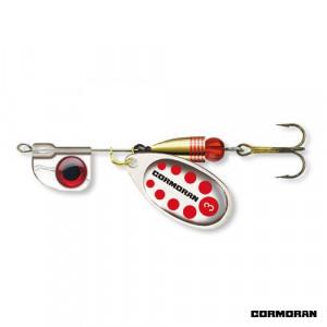 Lingurita rotativa AT Silver/Red nr.3/7,5gr Cormoran