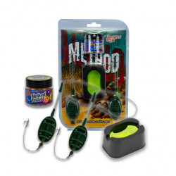 Set Benzar Mix Long Cast, 2 Monturi Nr.10 + Matrita + Momeala Carlig