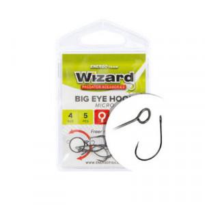 Carlige Wizard Big Eye Micro, Nickel
