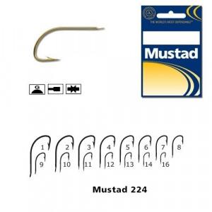 Cirlig cristal, auriu 10 buc/ plic (M.275) Mustad