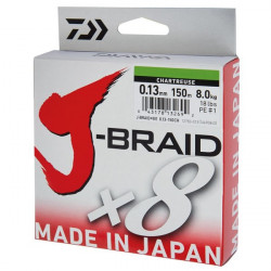 Fir Daiwa J-Braid X8 Chartreuse 150m
