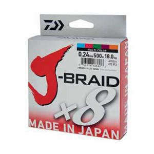 Fir Daiwa J-Braid X8 Multicolor 150m