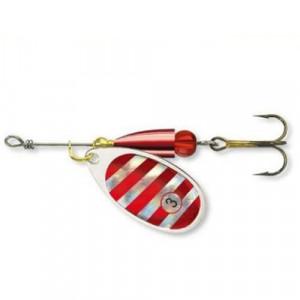 Lingurita rotativa Silver/Red TIGER Nr 2/4g Cormoran