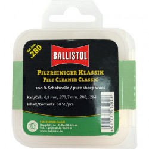 Pelete lana Ballistol pentru curatat carabina, calibru 12, 30 buc