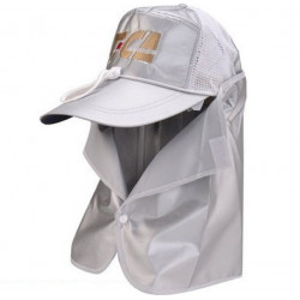 Sapca Tica cu protectie UV ceafa, alb