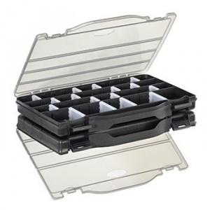 Set 2 cutii 8/32 compartimente ajustabile 76X186X59mm Plastico Panaro