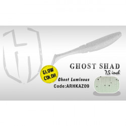 Shad Ghost 7.5cm  Ghost Luminous Fluorescent  Herakles