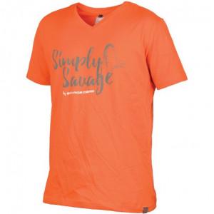 Tricou Simply portocaliu Savage Gear