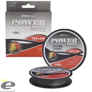 Fir EnergoTeam Power Braid Teflon gri 150m