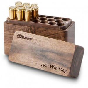 Cutie 20 posturi 300win.mag lemn de nuc Blaser