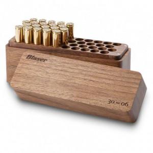 Cutie lemn de nuc pentru munitie 40 posturi Blaser