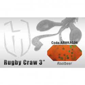 """Grub Rugby Craw 3"""" 7.6cm Rootbeer Herakles"""