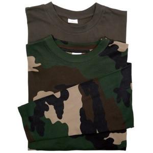 Set 2 tricouri maneca lunga  kaki / camuflaj Treesco