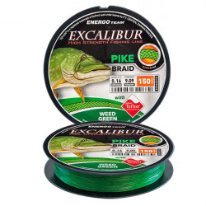 Fir Excalibur Pike 8YARN Braid 150m verde EnergoTeam