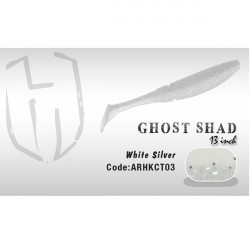 Shad Ghost 13cm White / Silver Herakles