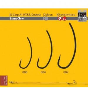 Carlige A1 G-CARP Long Claw  PTFE 10buc/ plic Gamakatsu