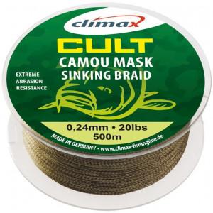 Fir textil Climax Cult Camou Mask Sinking Braid, 500m