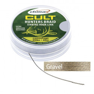 Fir Textil Climax Cult Huntersbraid Sinking Hooklink Gravel, 20m